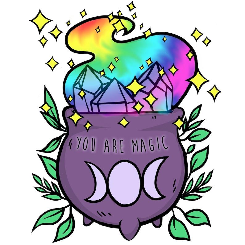 You Are Magic Pride Cauldron Goddess Ferns Love image 0