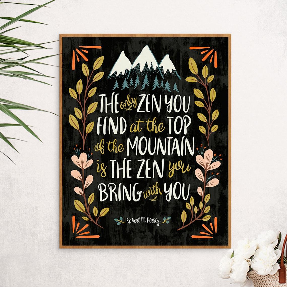 Zen Decor Buddha Quote Art Yoga Art Motivational Poster Etsy