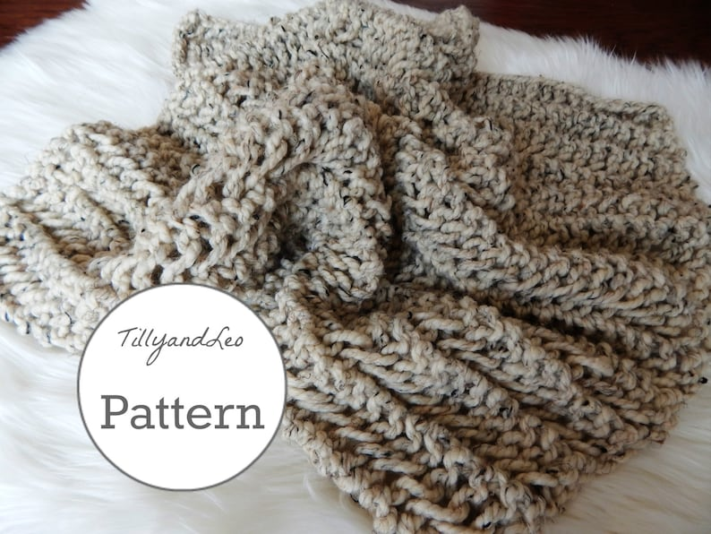 Knitting Pattern Chunky Knit Wool Blanket Throw Baby Etsy