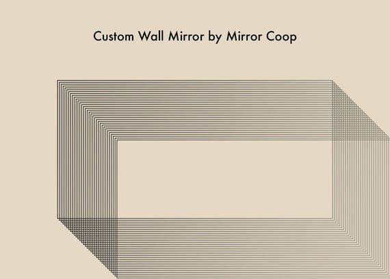 48 x 72 mirror glass image custom antiqued mirror for 7devins will measure 48 etsy