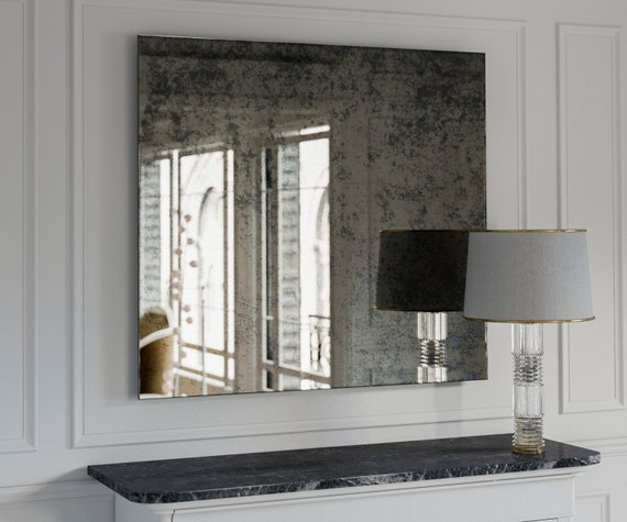 Large Antique Wall Mirror: Antique Mirror. Large Wall Mirror. Decorative Wall Mirror