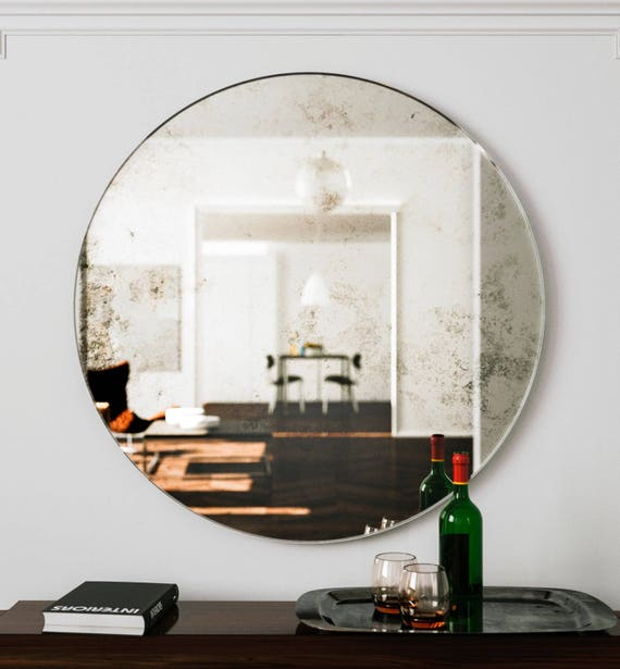 unique wall mirrors elegant wall image large wall mirror unique round art deco hanging glass etsy
