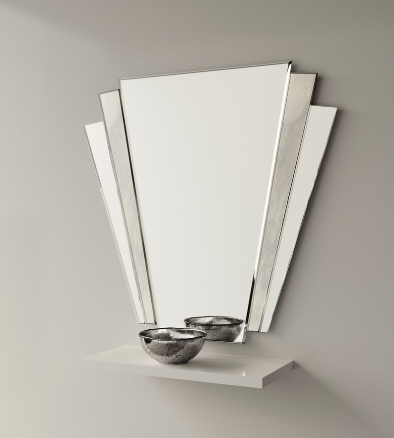 Art deco mirror. 1930s inspired Art Deco wall mirror with image 0