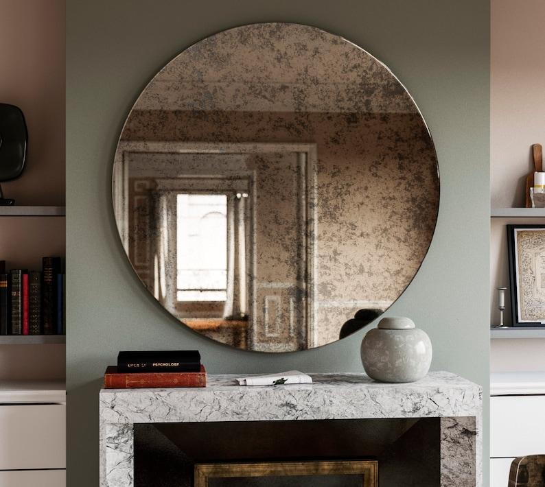 Espejo En El Marco Francia Suiza Um 1920 Espejos Muebles Antiguos Y Decoración