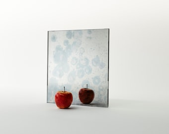 MirrorCoop Antiqued Blueberry Mirror. Colorful antiqued mirror that adds a special flair to any interior. Antiqued mirror by Mirror Coop.