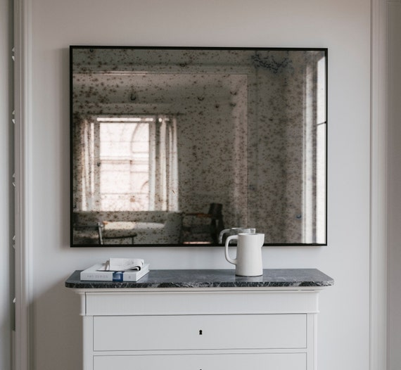 The Coveteur Antique Mirror Walls: Large Wall Mirror. Antiqued Mirror. Distressed Antiqued