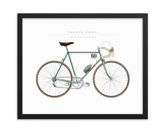 Brooklyn, Bianchi, Sanson, Raleigh Iconic Vintage Cycling Jersey Print Poster