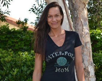 Water Polo Mom Fitted Tee