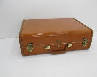 Vintage Suitcase, Luggage, Samsonite Brown Tapered Suitcase, Stacking Suitcase, Photo Prop