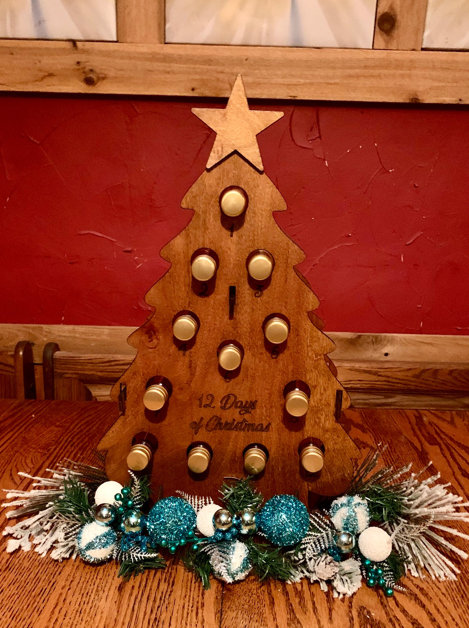 Wine Advent Calendars to Brighten your Holiday, Holds 12 Mini Wine Bottle,