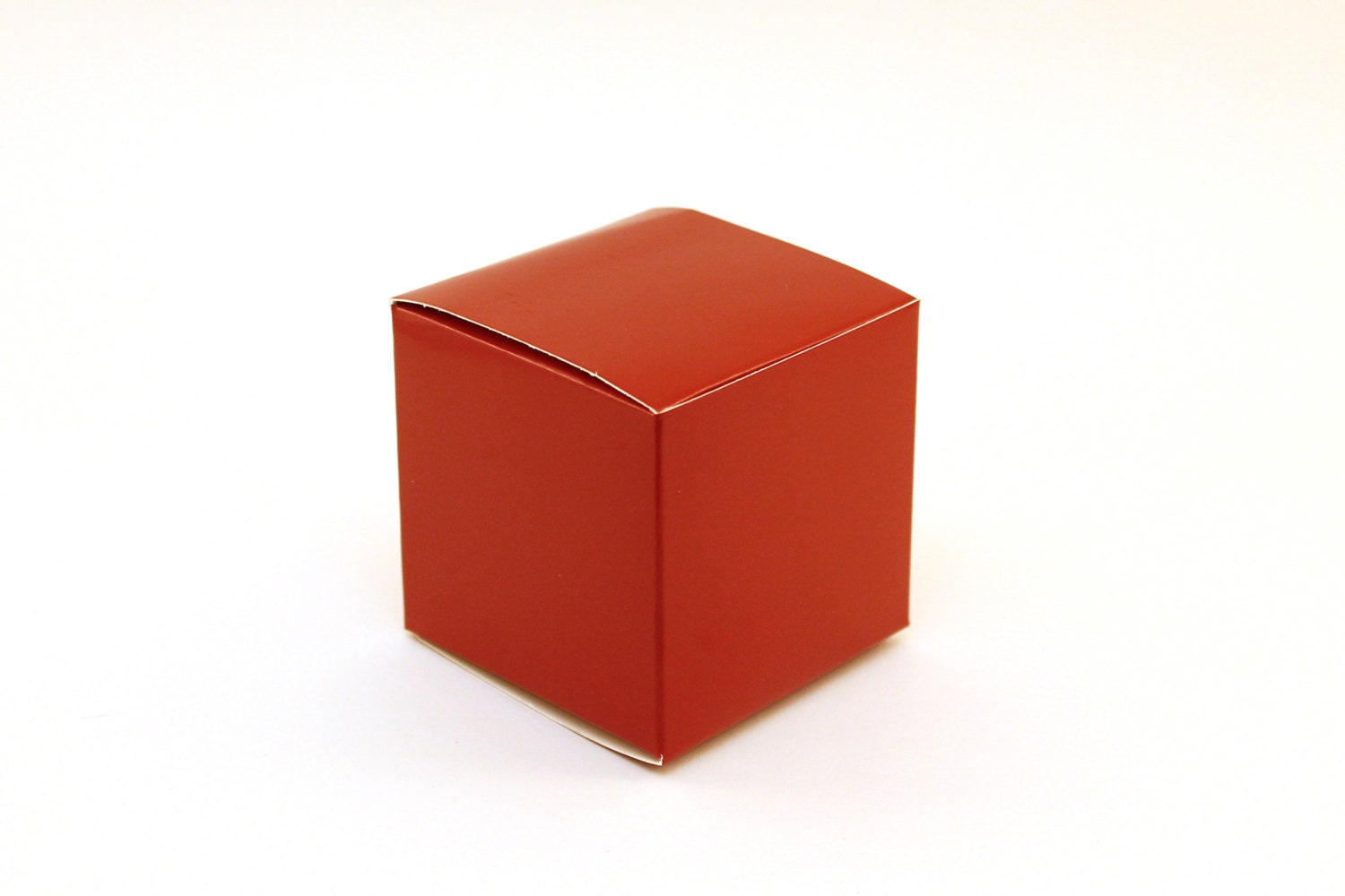 Red Favor Box Small Favor Boxes 3x3x3 Red Wedding Favor Etsy