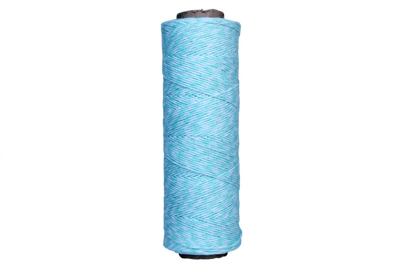 Aqua Blue /& White Duo 4-ply 100/% Cotton Baker/'s Twine *Your Choice of Length*
