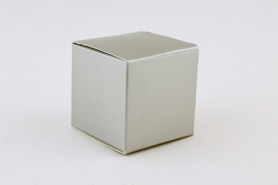 Silver Favor Box Small Favor Boxes3x3x3 Grey Wedding Favor Boxes
