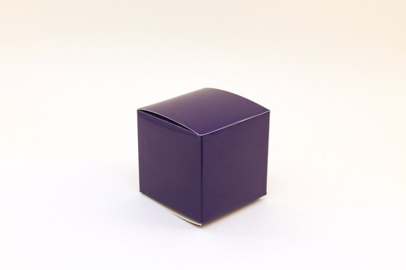 Blue Favor Box Small Favor Boxes 3x3x3 Blue Wedding Favor Etsy
