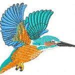 Embroidery pattern - kingfisher
