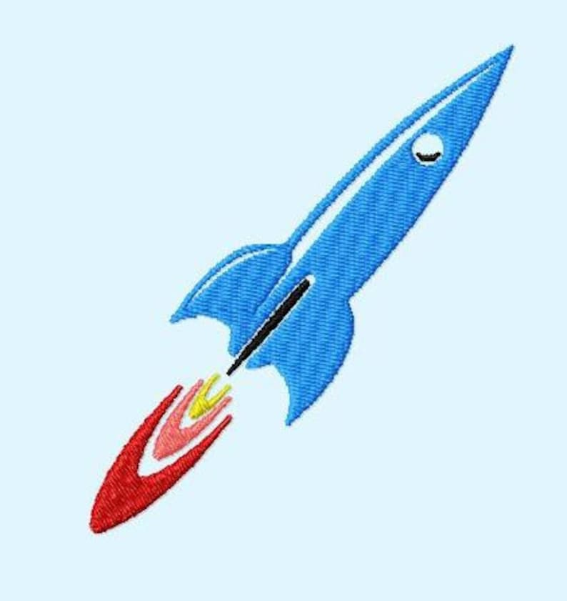 Embroidery pattern  Rocket image 0