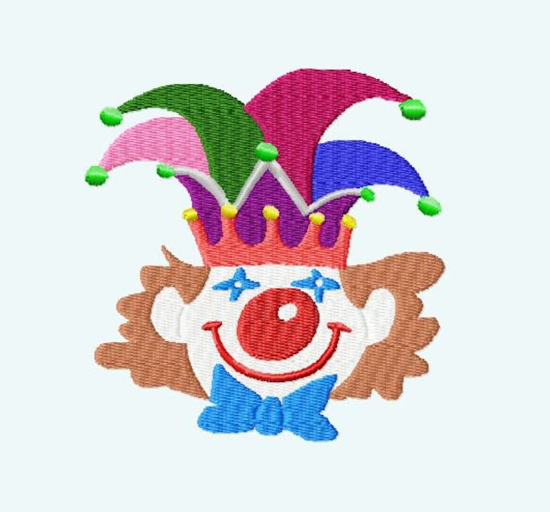 Embroidery pattern  Clown Carnival image 0