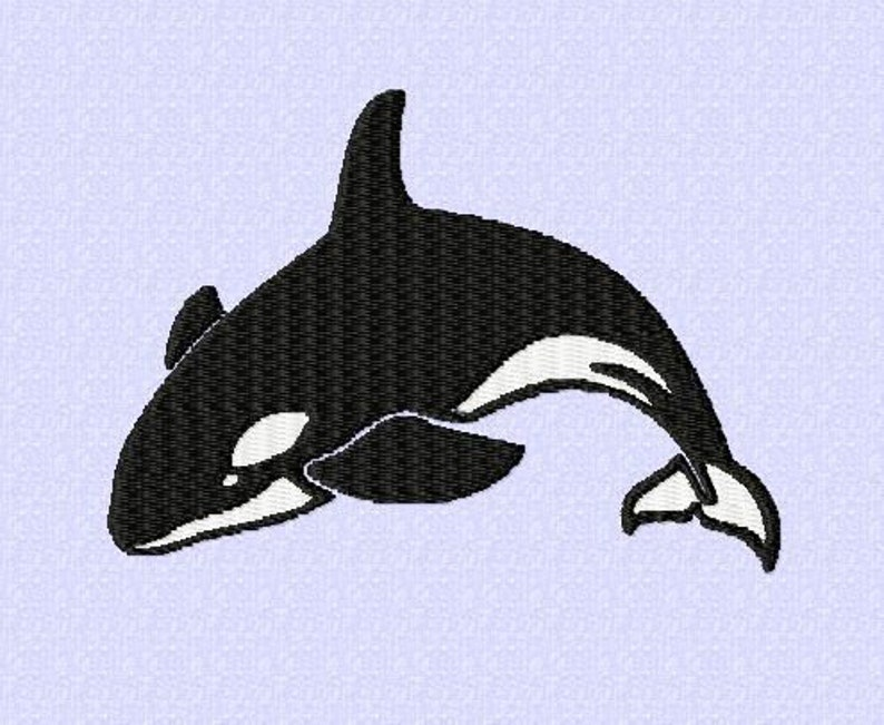 Embroidery pattern Orca  3 sizes image 0