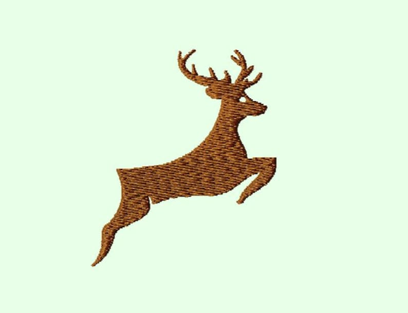 Embroidery pattern  deer 4 image 0