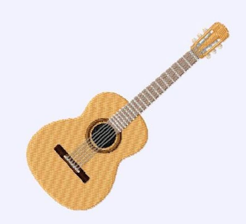 Embroidery pattern  guitar image 0