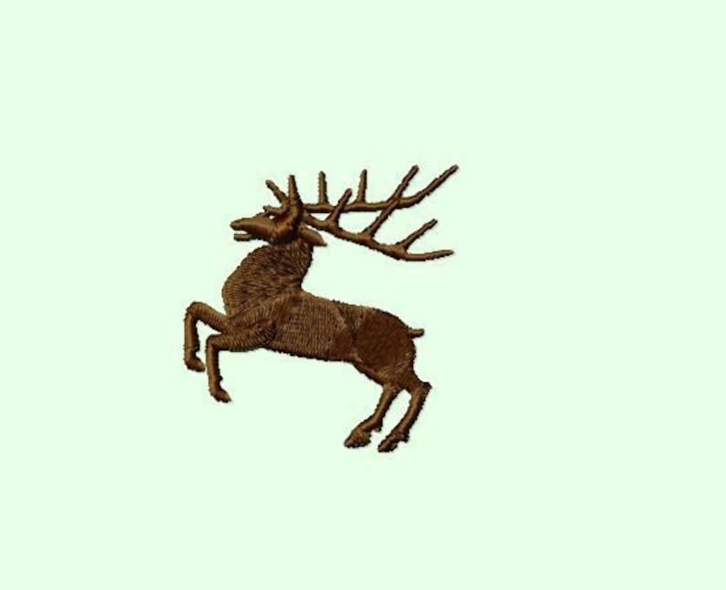 Embroidery pattern  Deer   2 sizes image 0