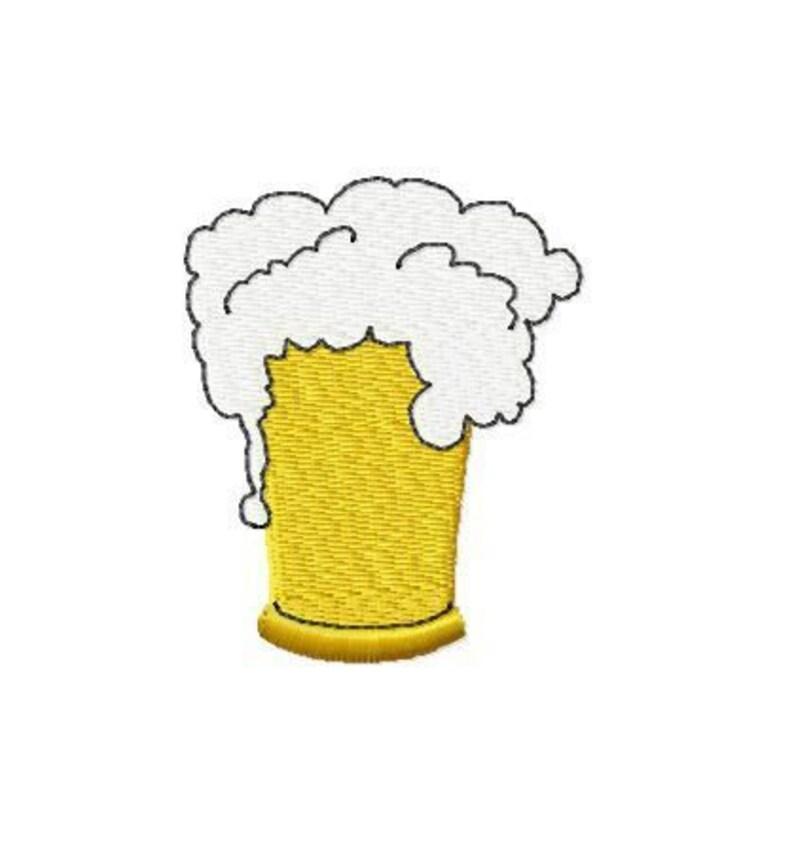 Embroidery pattern file  Beer mug  2 Sizes image 0
