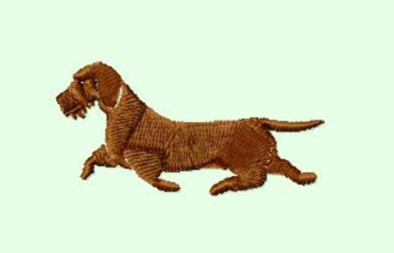 Embroidery pattern  Wire-haired dachshund image 0