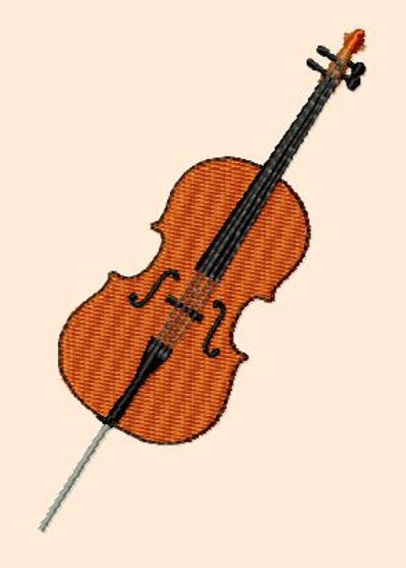 Embroidery pattern  cello image 0