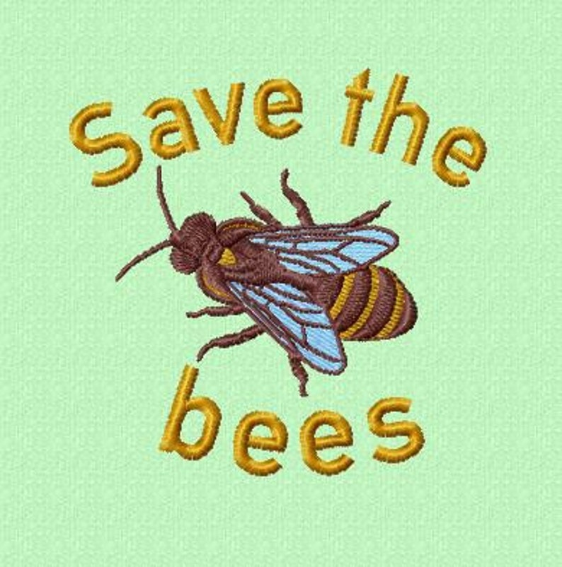 Embroidery pattern  Save the bees image 0