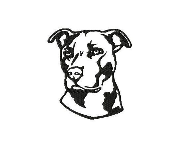 Embroidery pattern file  Pitbull image 0