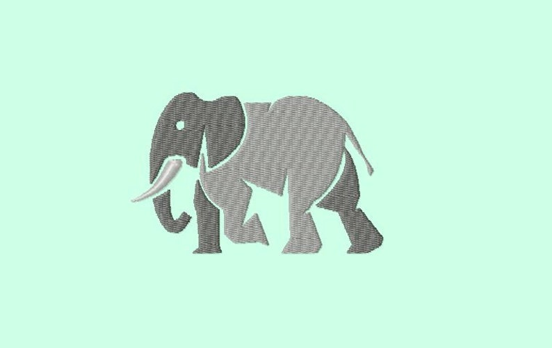 Embroidery pattern  Elephant image 0