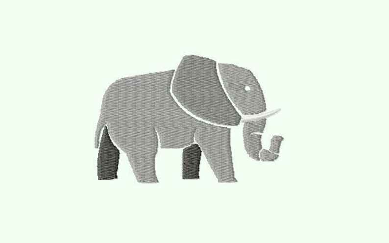 Embroidery pattern file Elephant image 0