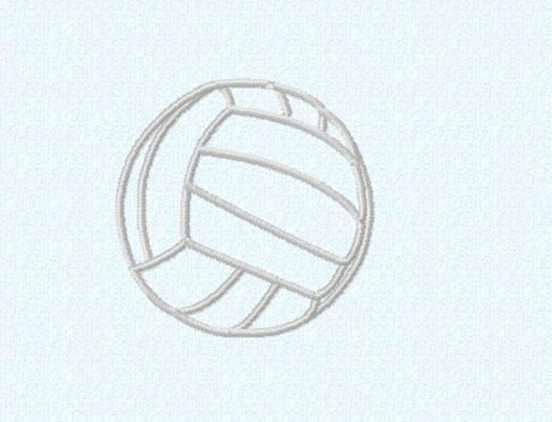 Embroidery pattern  Volleyball in 4 sizes  image 0