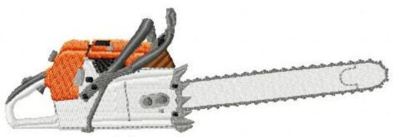 Embroidery pattern  chainsaw image 0