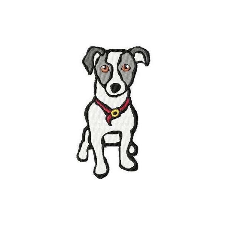 Embroidery pattern file Jack-Russel-Terrier  2 versions image 0