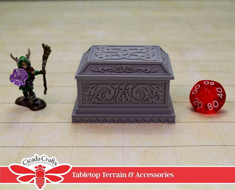 Sarcophagus Unpainted  Tabletop Gaming Miniatures for D&D image 0