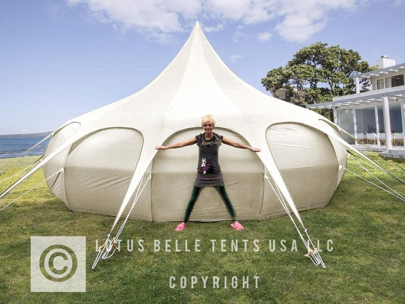 20ft Lotus Belle Tent yurt, burning man, glamping festival tent - only in  red at the moment