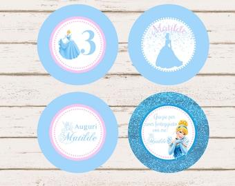 Cinderella Custom Cupcake Topper