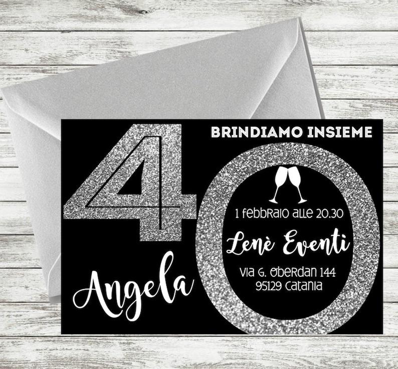 Personalized 40th Birthday Invitation