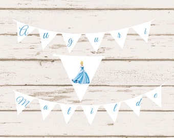 Cinderella Happy Birthday Banner