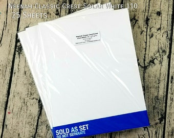 Neenah Classic Crest 110 lb SMOOTH SOLAR WHITE Paper Pack 25 Sheets