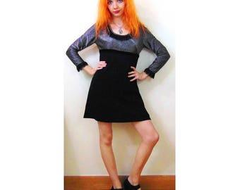 Retro Disco Dress, Glam Rock, Goth Dress, Mod Dress, Mini Dress, Sparkly Dress, 60s Inspired, 60s Style, 70s Inspired, 70s Style