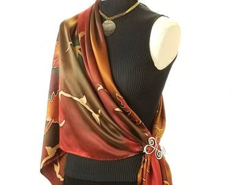 b92cc6940 A Walk in the Woods - Hand Painted Silk Scarf / Wrap