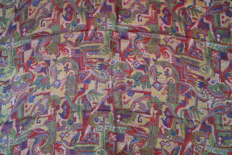 RAB194 100 /% Pure Silk Saree Vintage Indian Fabric Printed  Work Traditional Clothing Sarong Wrap Craft Decor Women Home Dress Sari 5yd