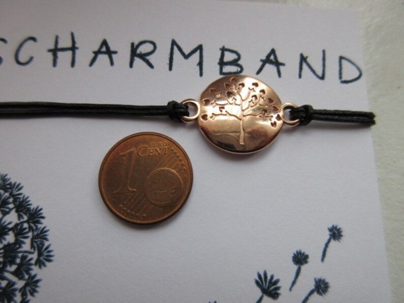 Leather bracelet make a wish wish bracelet tree Rose