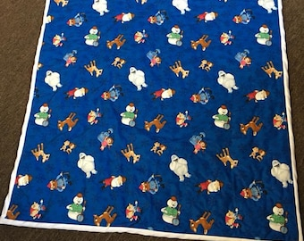Rudolph the Red-Nosed Reindeer hand quilted quilt
