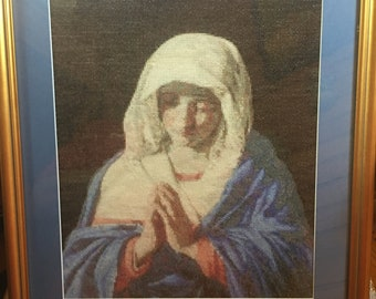Counted Cross Stitch of the Blessed Virgin Mary