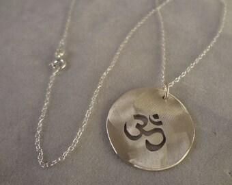 Sterling Silver Om Symbol Pendant