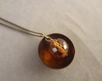 Hand Made Brass and Czech Glass Pendant by Rachel Sowinski at The Gift Itself