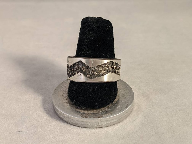 One of a kind hand made sterling silver ring by Rachel image 0